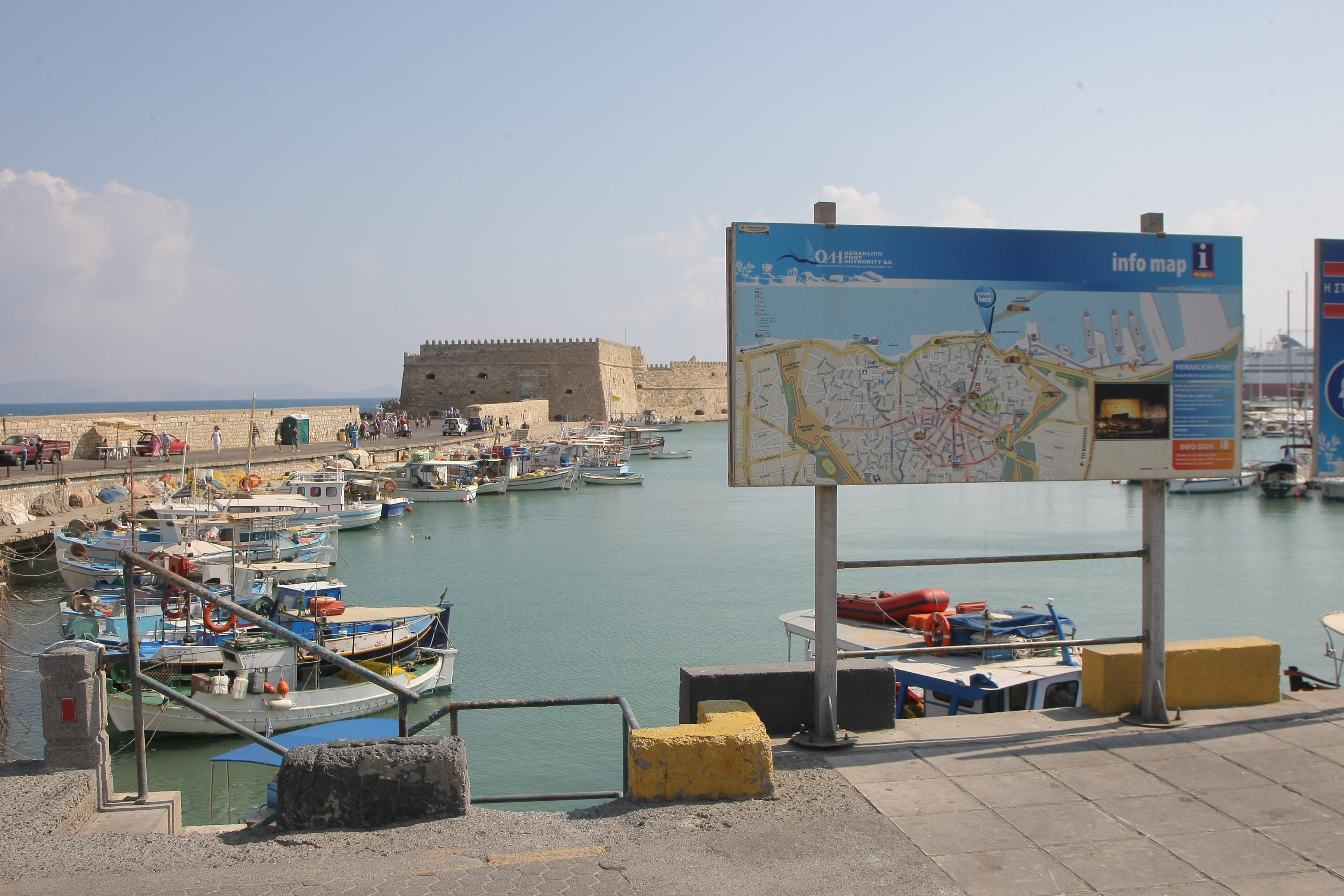 Information About Ancona Italy Heraklion Port Info Sign No