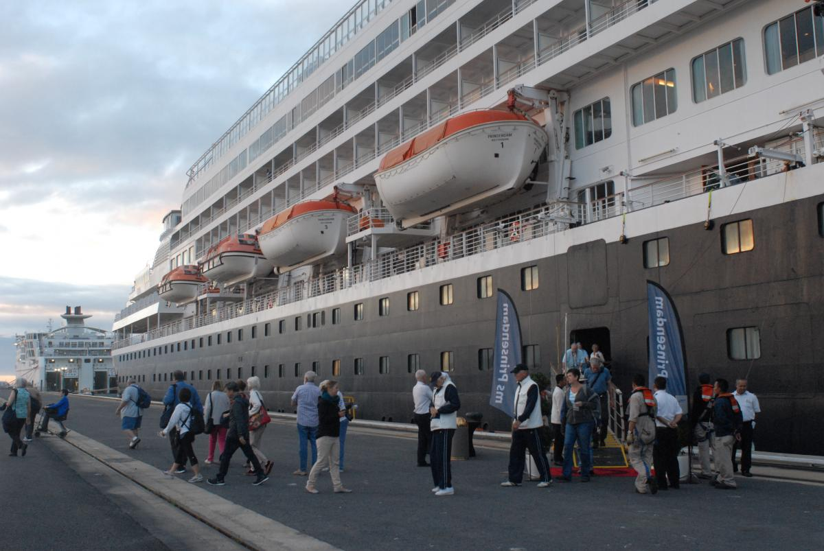 On april 23rd the cruise ship prinsendam of holland america called