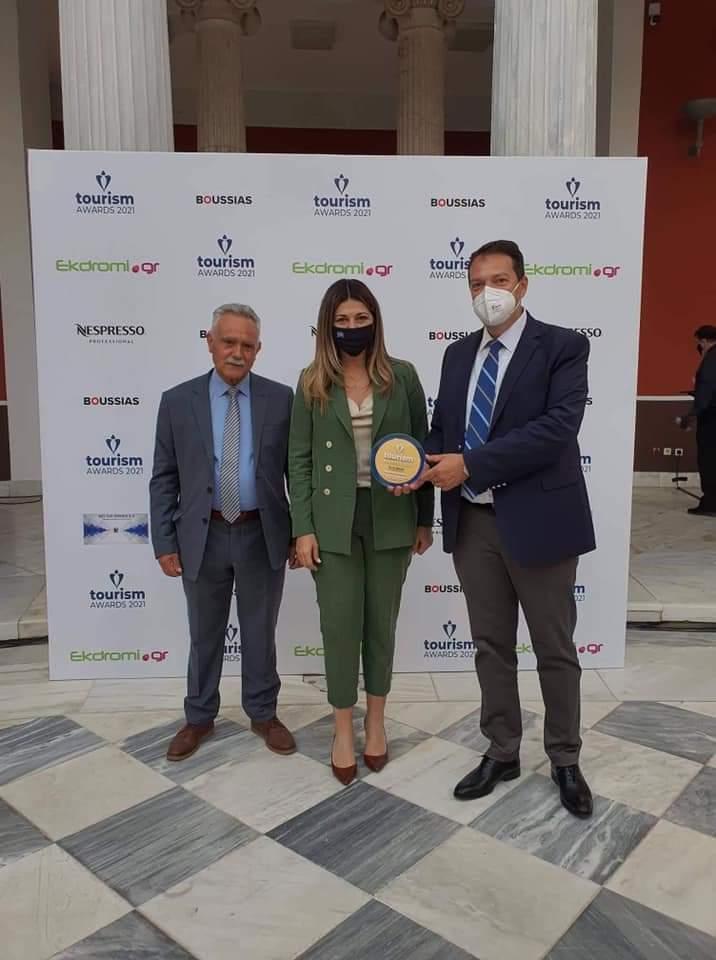 Heraklion Port Authority achieve the highest distinction winning the Platinum Award at the 2021 Greek Tourism Awards (June 2021)