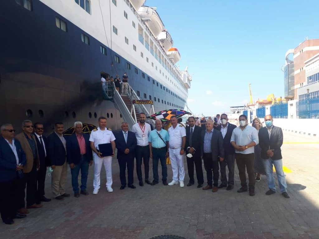 Magnificent resuming for Cruise sailing to Egyptian Ports: Alexandria Port received World Navigator and Blue Sapphire (September 2021)
